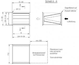Kanalluftfilter KS